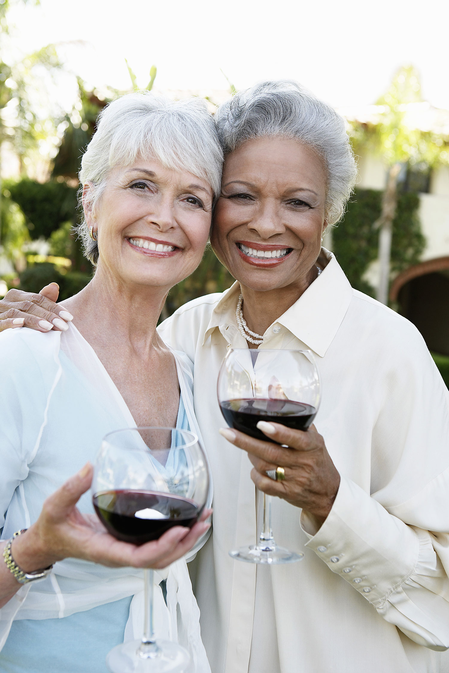 Ladies with wine