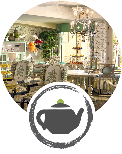 silk tassel tea room